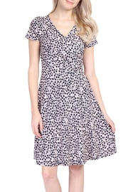 Riah Fashion Abstract V Neck Dress - Product Mini Image