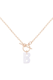 Riah Fashion Acetate Letter Initial Necklace - Product Mini Image
