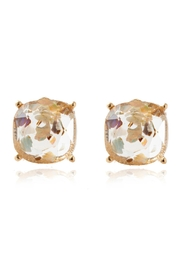 Riah Fashion Acetated Natural Stone Post Earrings - Front cropped