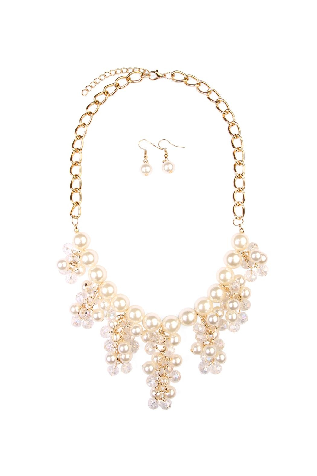 Riah Fashion Chain Necklace Earrings Set - Main Image