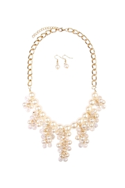 Riah Fashion Chain Necklace Earrings Set - Front cropped