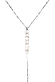 Riah Fashion Acrylic Pearl Necklace - Front full body