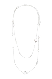 Riah Fashion Acrylic-Stone-Station-Necklace - Front cropped