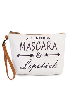 "Shoptiques Product: ""All-I-Need-Is-Mascara"" Cosmetic-Bag"