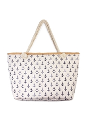 Riah Fashion All Over Anchor Print Tote - Product Mini Image