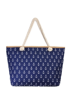 Shoptiques Product: All-Over-Anchor Print Tote