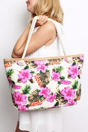 Riah Fashion Aloha Floral Tote - Front full body