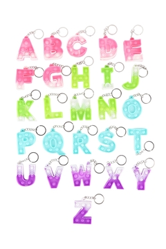 Shoptiques Product: Alphabet-Letter-Stress-Reliever-Toy-Keychain-Per-Pack
