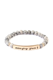 Riah Fashion Amazing-Grace-Bar Natural Stone-Bracelet - Product Mini Image
