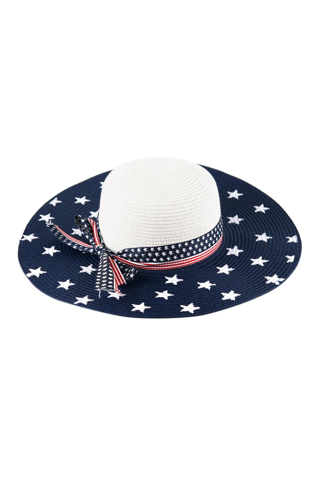Riah Fashion American-Flag-Floppy-Hat - Front Cropped Image
