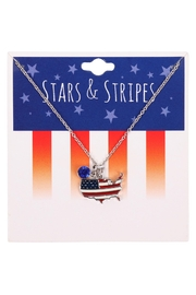 Riah Fashion American Flag Map Necklace - Product Mini Image