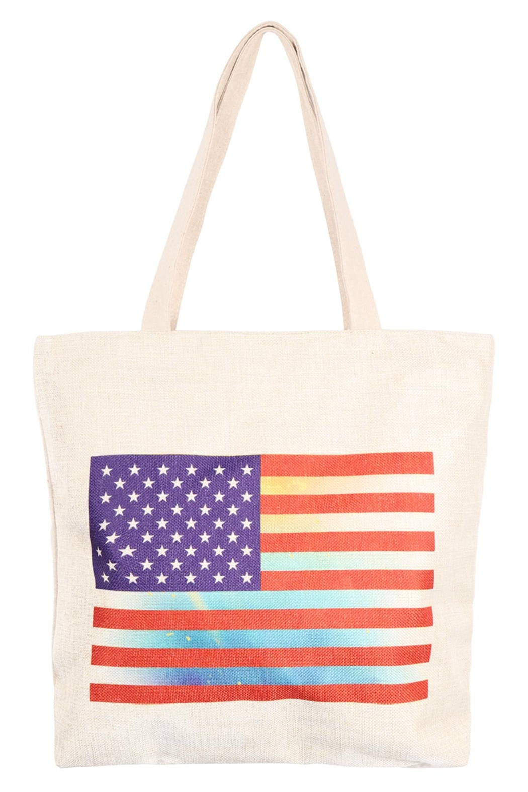 Riah Fashion American-Flag-Print-Tote-Bag - Front Cropped Image