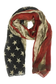 Riah Fashion American Flag Scarf - Product Mini Image