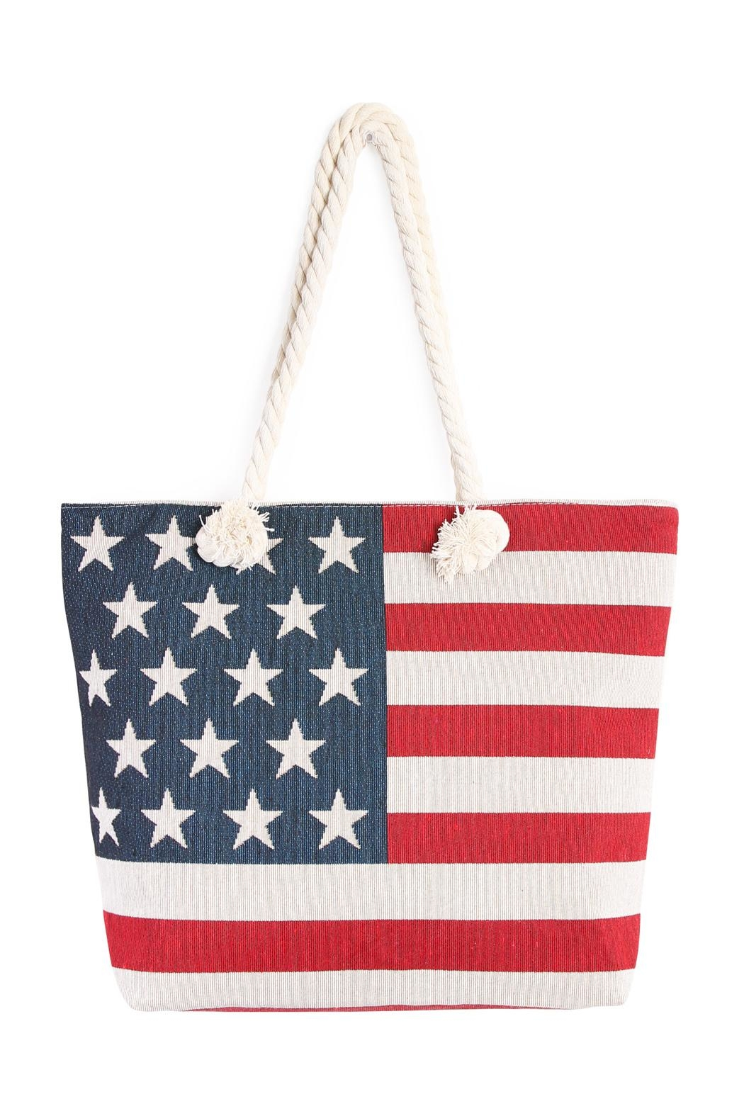 Riah Fashion American Flag Tote - Main Image