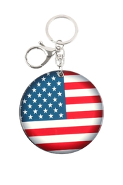 Riah Fashion American Flag W/ Mirror Keychain - Product Mini Image