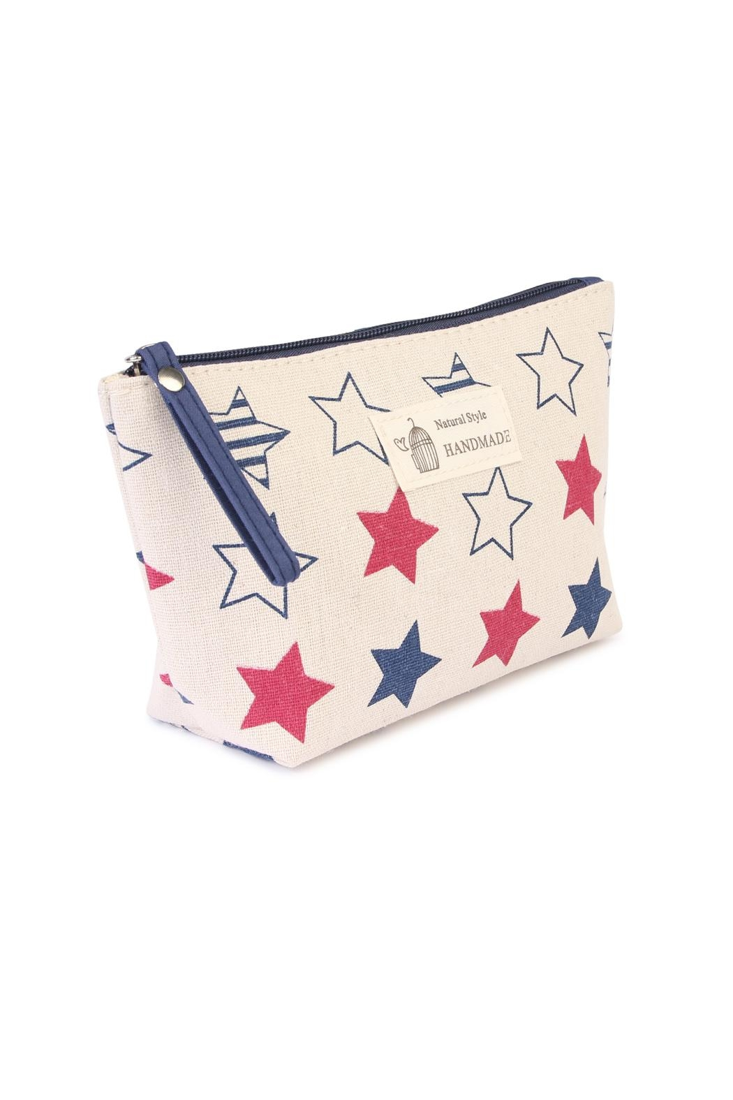 Riah Fashion American Star Print Pouch - Front Full Image