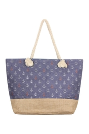 Riah Fashion Anchor-Print Tote Bag - Product Mini Image
