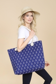 Riah Fashion Anchor Print Tote Bag - Front full body