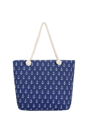 Riah Fashion Anchor Print Tote Bag - Front cropped