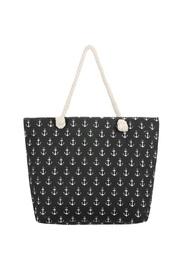 Riah Fashion Anchor Print Tote Bag - Product Mini Image