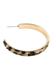 Riah Fashion Animal Print Hoop-Earrings - Front full body