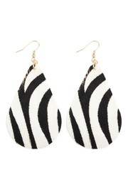 Riah Fashion Animal Print Teardrop-Earrings - Product Mini Image