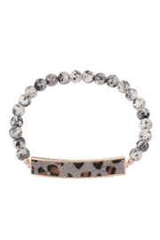 Riah Fashion Animal-Print-With-Beaded-Stone-Bracelet - Front cropped