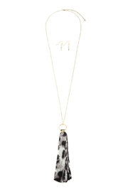Riah Fashion Animal Printed Pendant-Necklace - Front full body
