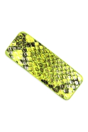 Riah Fashion Animal-Scale Printed-Rectangular Hair-Clip - Product Mini Image