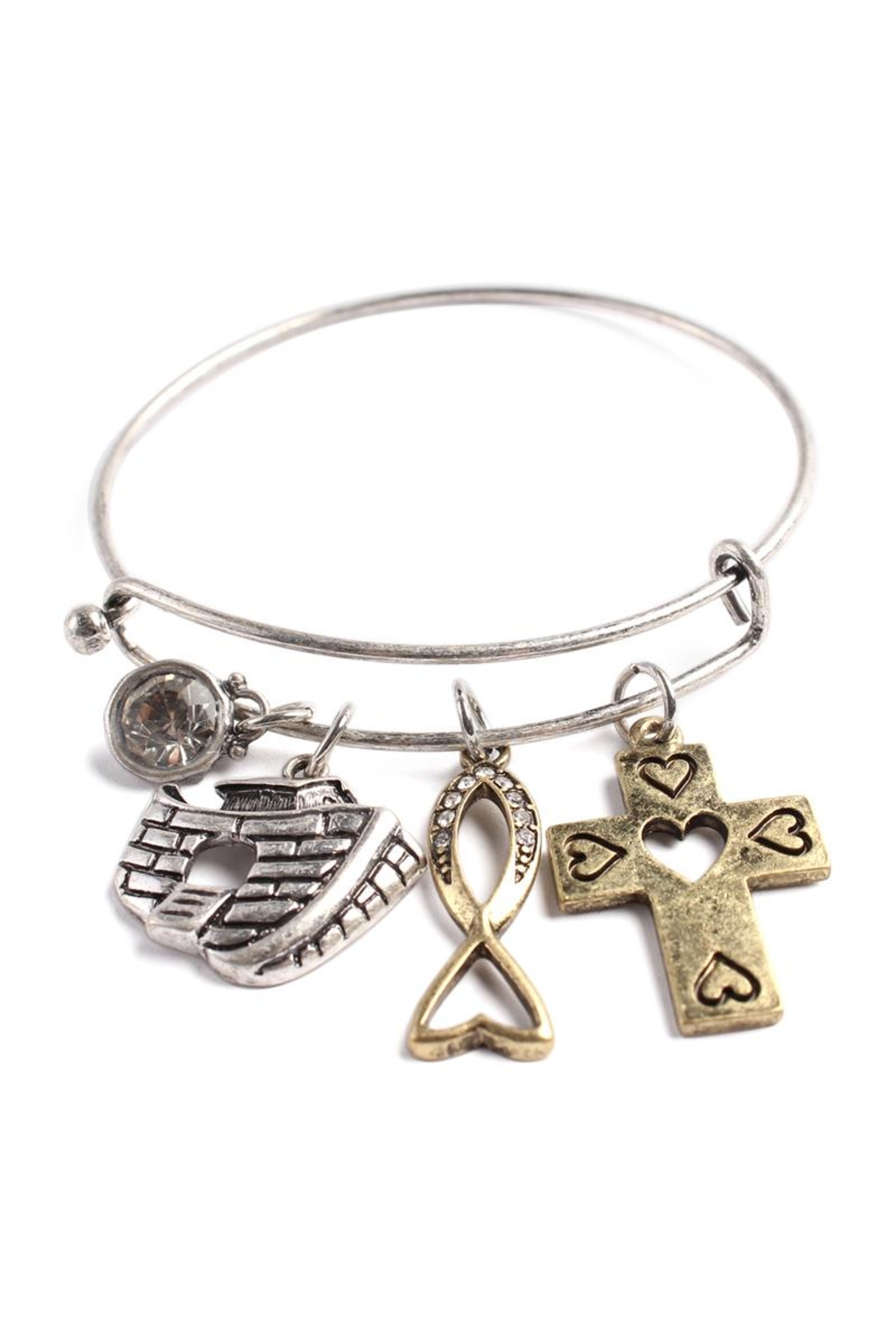 Riah Fashion Ark Charmed  Bracelet - Front Cropped Image