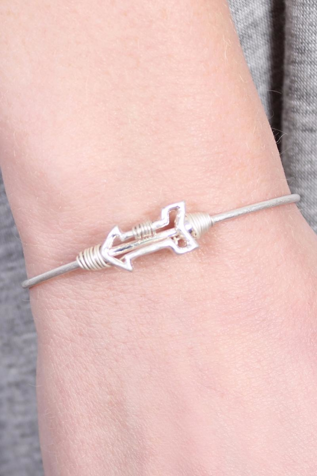 Riah Fashion Arrow Wired Bracelet - Front Full Image