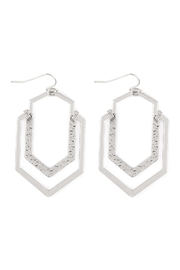 Riah Fashion Artdeco-Hammered-Wire-Hook-Earrings - Front cropped