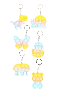 Shoptiques Product: Assorted-Mini-Pop-Fidget-Sensory-And-Stress-Reliever-Toy-Keychain