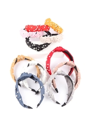 Riah Fashion Assorted-Pearl-Knot-Head-Band-Hair-Accessories - Product Mini Image