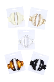 Riah Fashion Assorted-Set-Mini-Hair-Clam-Clips-Acetate-Hair-Accessory - Front cropped