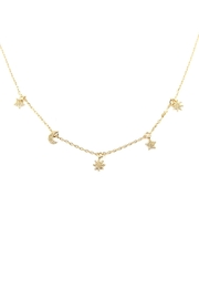 Riah Fashion Astrology Charm Necklace - Product Mini Image