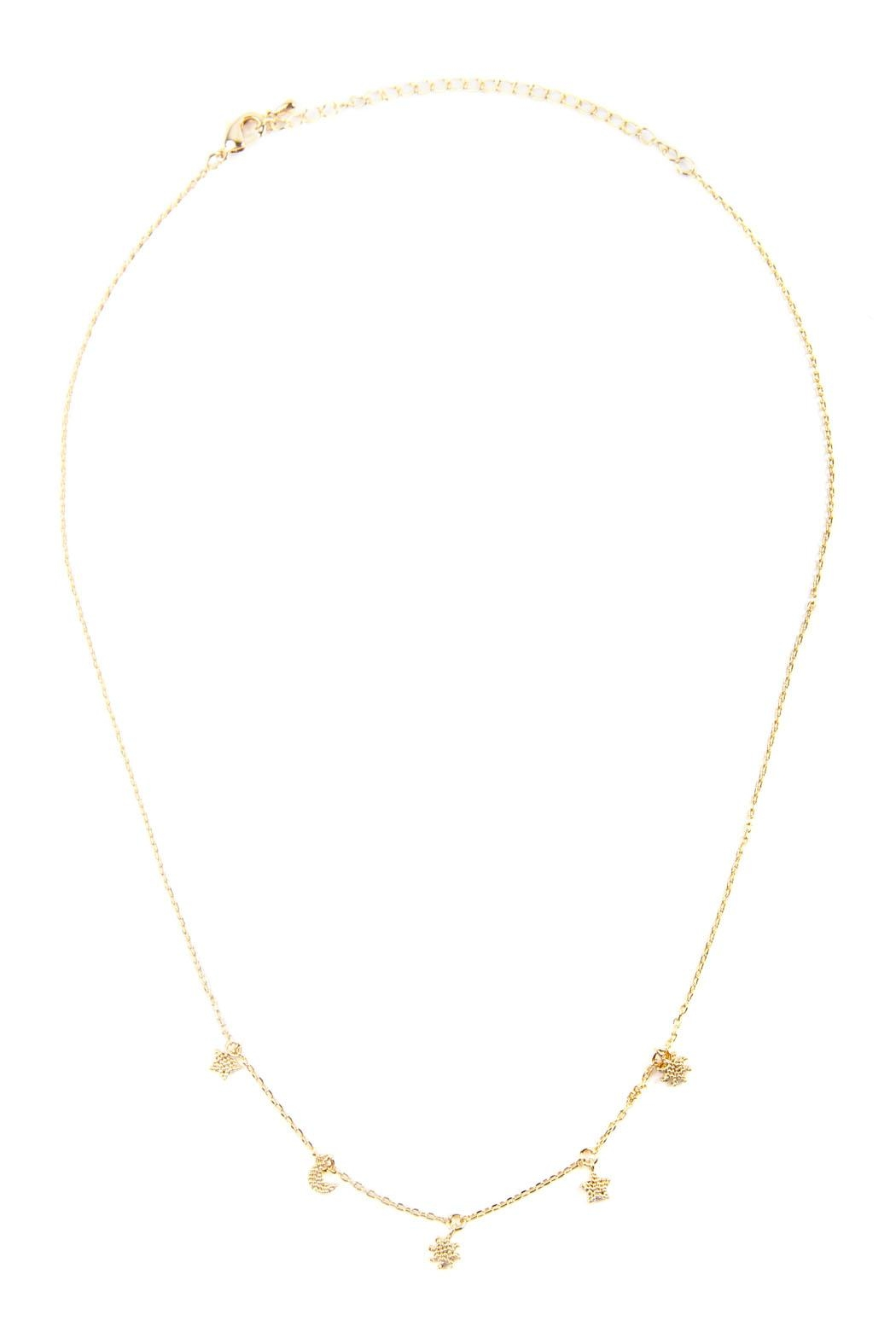 Riah Fashion Astrology Charm Necklace - Front Full Image