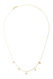 Riah Fashion Astrology Charm Necklace - Front full body