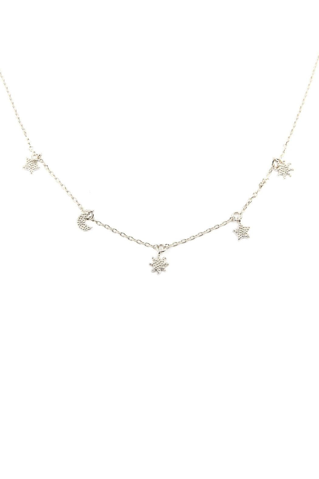 Riah Fashion Astrology Charm Necklace - Front Cropped Image