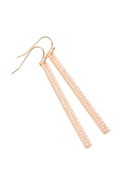 Riah Fashion Ave Bar Hook Earrings - Back cropped