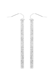 Riah Fashion Ave Bar Hook Earrings - Front cropped