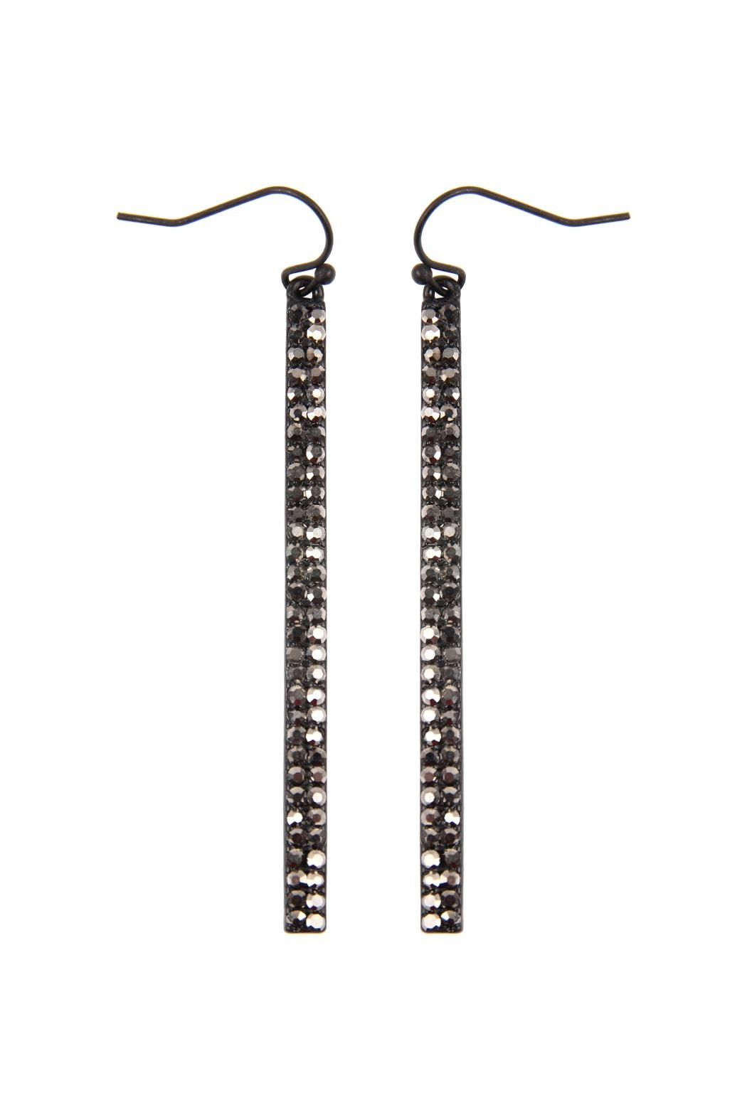 Riah Fashion Ave Bar Hook Earrings - Front Cropped Image