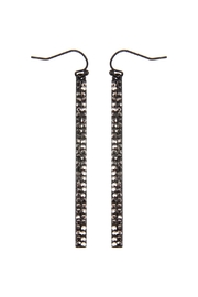 Riah Fashion Ave Bar Hook Earrings - Product Mini Image