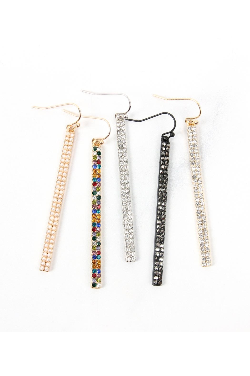 Riah Fashion Ave Bar Hook Earrings - Front Full Image