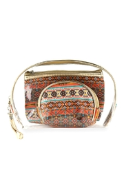 Riah Fashion Aztec-And-Clear 3pcs Pouches - Product Mini Image