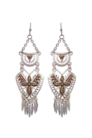 Riah Fashion Aztec Chandelier Earrings - Front cropped