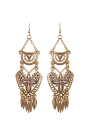 Riah Fashion Aztec Chandelier Earrings - Product Mini Image
