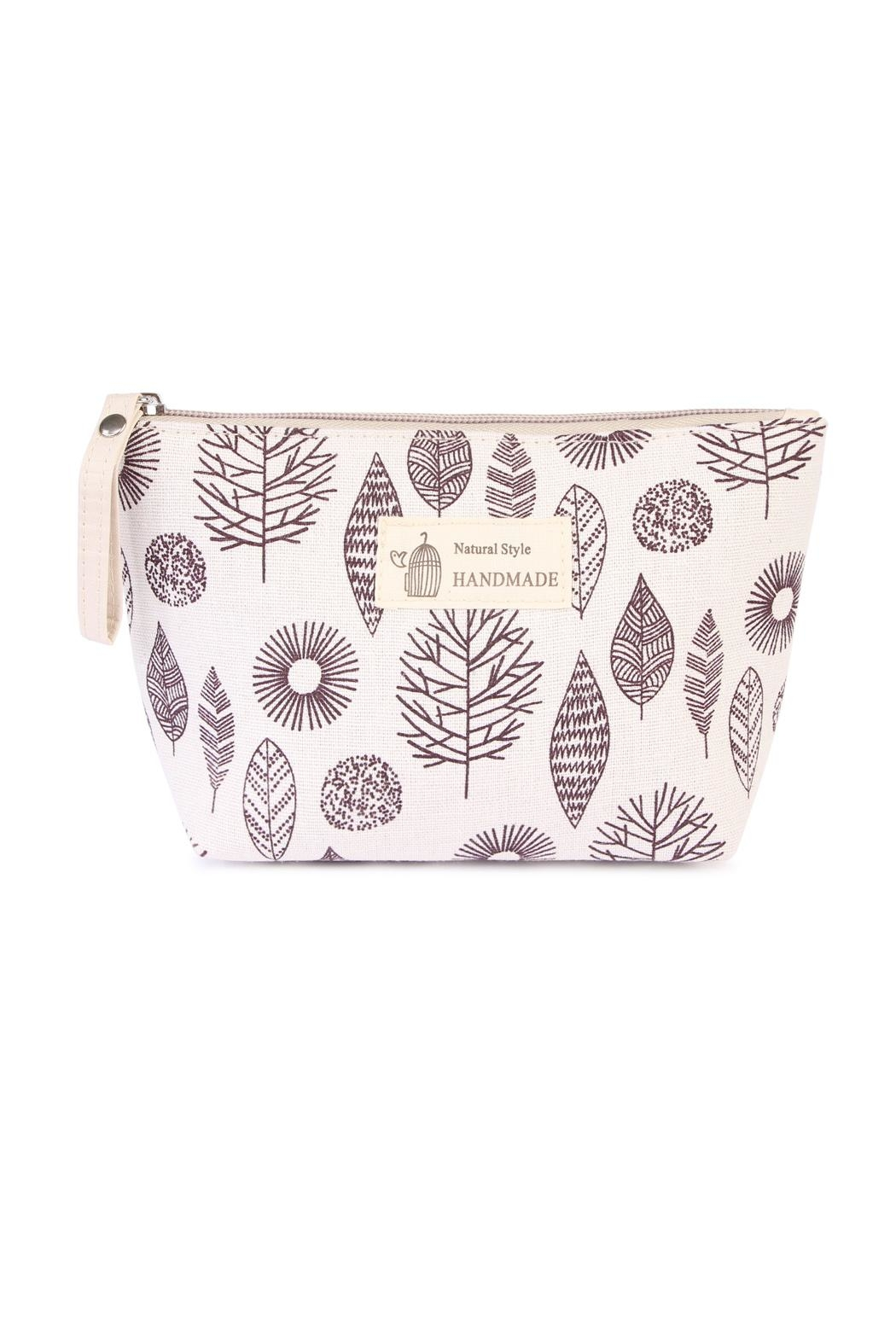 Riah Fashion Leaf Cosmetic Pouch - Main Image