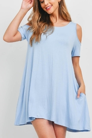 Riah Fashion Baby Blue Dress - Front cropped