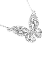 Riah Fashion Baguette Butterfly Necklace - Product Mini Image